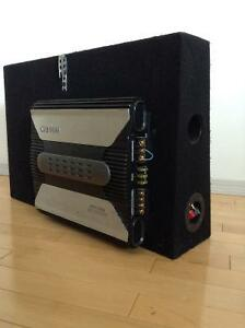 Clarion APX 1300 Amp w/Ported Subwoofer Box