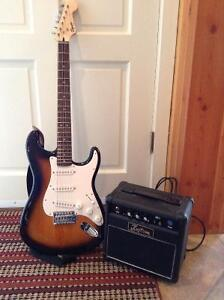 Fender Electric Guitar-Squire Bullet Stratocaster and amp