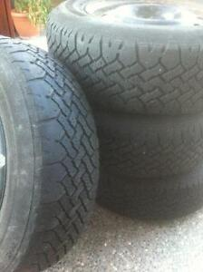 15 Inch Steel Rims, with Wintermark Magna Grip Tires