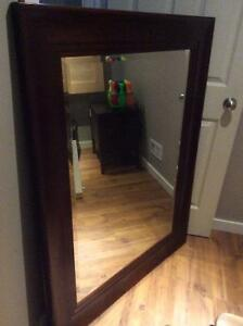 Cherry wood mirror