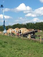 Screw piles, equipment rentals and firewood