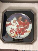 Steve Yzerman Signed and Framed Plate