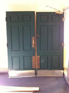 Solid Wood Exterior Door with all brass hardware