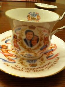 Tea cup and Loving cup commemorating the birth of Prince William Strathcona County Edmonton Area image 1
