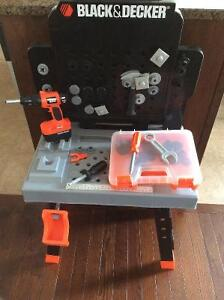 Black and decker toolbench with tools