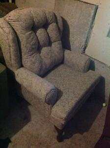 Wing back chair perfect for apartment or house