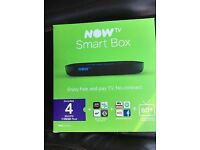 Nowtv Box and Pass Sealed brand new smart £25 standard £20