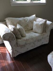 Comfy Sofa and Loveseat. with Footstool