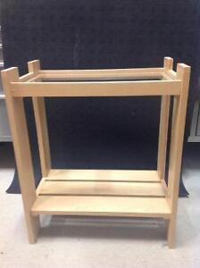 Meuble pour acquarium ou table d'appoint ou bibliothèque en bois
