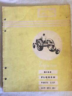 Ferguson Disc Plough parts list