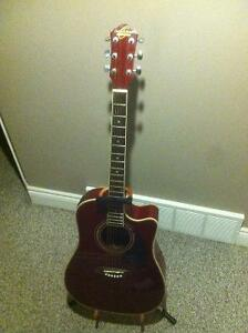 WASHBURN ELECTRIC GUITAR WITH BUILT IN TUNER
