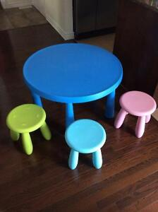 IKEA mammutt table with stools
