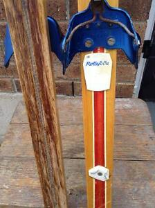 ANTIQUE WOOD SLEDs AND WOOD SKIS..GREAT WINTER DECOR RUSTIC Cambridge Kitchener Area image 3