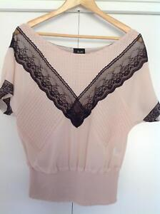 Bardot top dusty pink and black Port Sorell Latrobe Area Preview