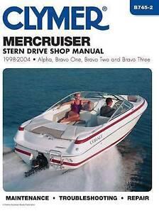 Mercruiser Stern Drives 1998-2004 Clymer Marine Repair Alpha Bravo One Two Three