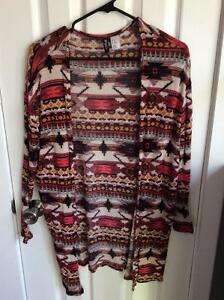 Azrec print cardigan size m/l= $10