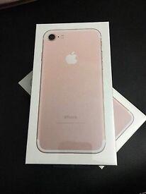 Iphone 7 gold new sealed 128gb O2 nerwork