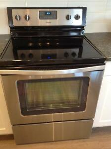 Near new whirlpool stainless steel stove