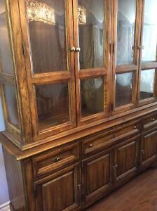 Stanley Solid Oak 2-piece China Cabinet (hutch & sideboard)