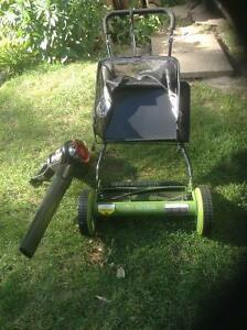 manual lawn mower Plus TORO  leaf blower