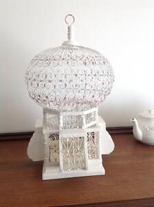 TUNISIA LARGE BRID CAGE, HANDMADE FILIGREE AND WOOD,PERFECT COND