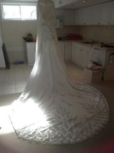 Wedding dress - ideal for someone looking for satin material