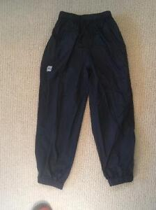 Black MEC Rain Pants Youth size 8