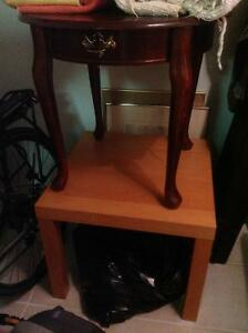2 tables forsale ikea $5.00 other $15.00