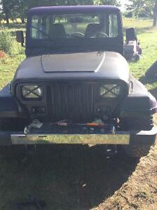1994 Jeep YJ black and  Purple Coupe (2 door) and parts jeep