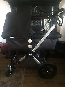 Black/grey bugaboo stroller