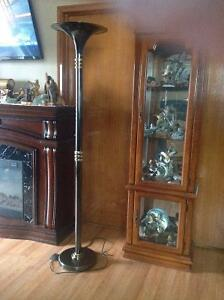 Modern High End Foot Operated Black With Gold Accents Floor Lamp