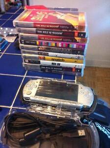 PSP Silver + 1 Game + 9 Movies