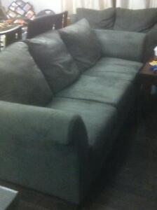 set of gray couches - 650.00