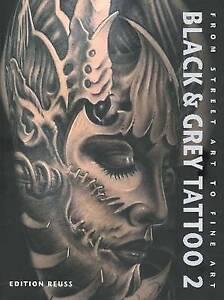 Black & Grey Tattoo: v. 2: Dark / Horror by Edition Reuss (Hardback, 2011)