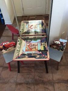 Cars theme table and chairs