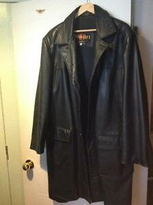 leather long jacket for men, large, Dimitri couture collection,