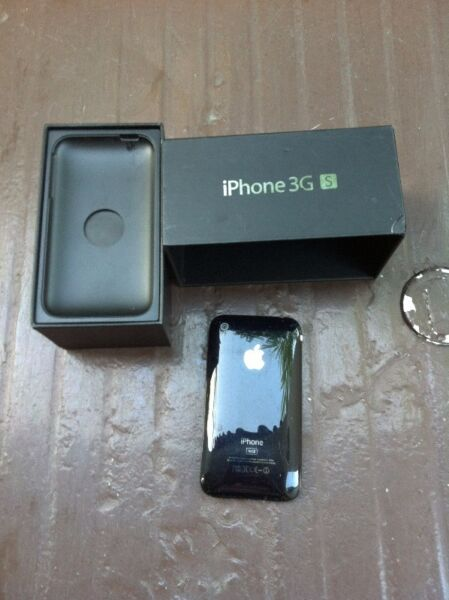 Iphone 3G with box. In good working condition but on/off button at the top missing.