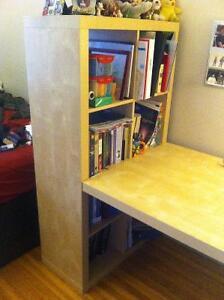 Expedit (Ikea) Desk/Bookcase Combo