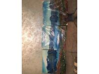 3D Glass 3Piece Wall Canvas