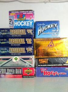 Huge Lot Mostly Hockey Cards Boxes Packs