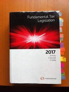 Principles of Taxation Law 2017 + Fundamental Tax Leg+Study Guide Perth Perth City Area Preview