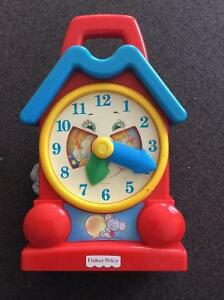 Vintage fisher price wind up clock