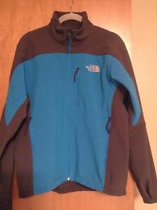 North Face Grey and Blue Soft Shell Jacket