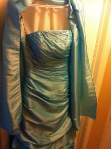 Ice Blue formal gown