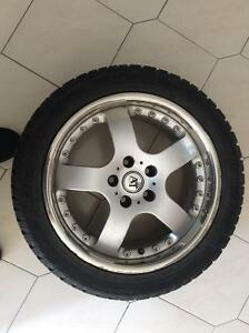 AT Italia 235/45/R17 Crome Rims +winter tires,$425 or best offer