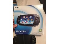 Really good condition boxed psvita,with leads