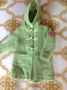 JOE Three-Quarter Pea Jacket Coat Girls Size 4 Green