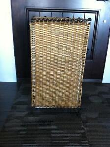 Wrought Iron Wicker Resin Laundry Basket