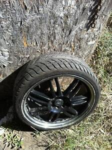 """18"""" 4x100 rims 215/35 Z rated"""