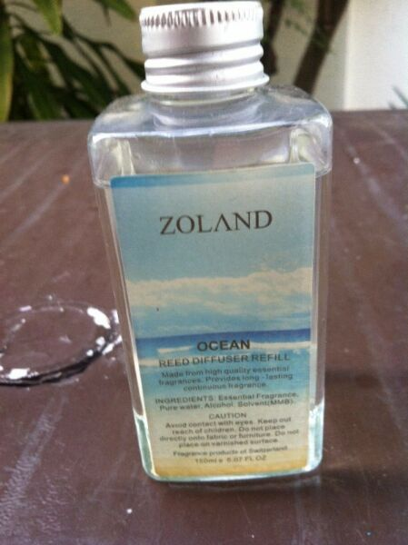 Zoland Ocean mist for Aroma Diffusers and Humidifiers. 150ml. More than 80% full.